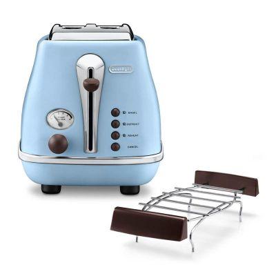 Delonghi - Delonghi CTOV 2103.AZ Icona Vintage Ekmek Kızartma Makinesi, Açık Mavi (1)
