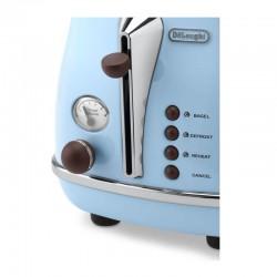 Delonghi CTOV 2103.AZ Icona Vintage Ekmek Kızartma Makinesi, Açık Mavi - Thumbnail