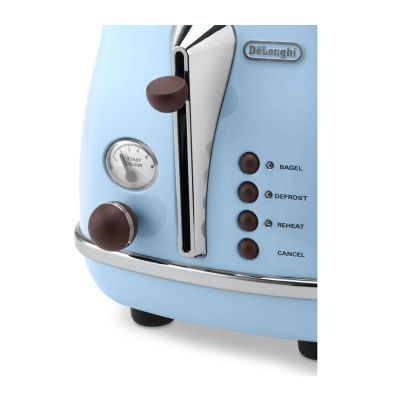 Delonghi CTOV 2103.AZ Icona Vintage Ekmek Kızartma Makinesi, Açık Mavi