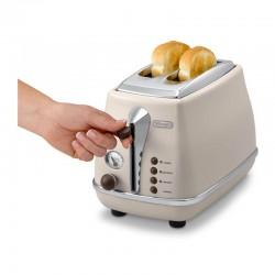Delonghi CTOV 2103.BG Icona Ekmek Kızartma Makinesi, Bej - Thumbnail