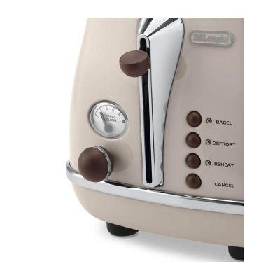 Delonghi CTOV 2103.BG Icona Ekmek Kızartma Makinesi, Bej