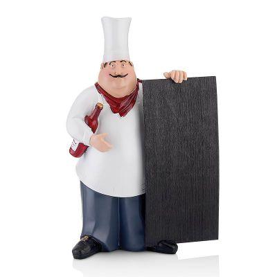 Biradlı Dekoratif Aşçı Figür, 38 cm