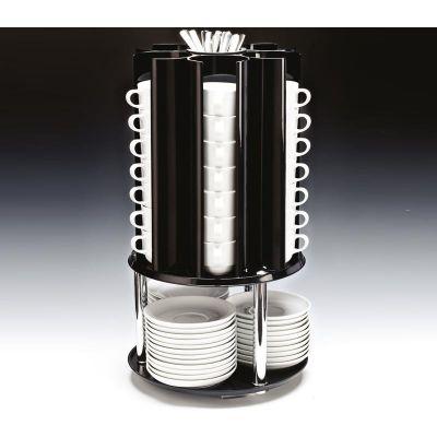 Zicco Fincan Tabak Kaşık Standı, Döner, Polikarbon, 30x55 cm