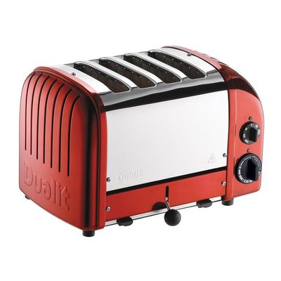 Dualit - Dualit 47031 Classic Ekmek Kızartma Makinesi, 4 Hazneli, El Yapımı, Kırmızı (1)