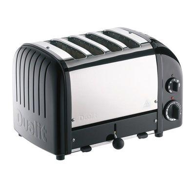 Dualit - Dualit 47035 Classic Ekmek Kızartma Makinesi, 4 Hazneli, El Yapımı, Siyah (1)