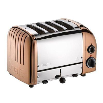 Dualit - Dualit 47390 Classic Ekmek Kızartma Makinesi, 4 Hazneli, El Yapımı, Bakır (1)