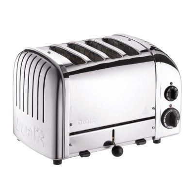 Dualit - Dualit 47030 Classic Ekmek Kızartma Makinesi, 4 Hazneli, El Yapımı, 2200 W, Çelik (1)