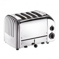 Dualit 47030 Classic Ekmek Kızartma Makinesi, 4 Hazneli, El Yapımı, 2200 W, Çelik - Thumbnail