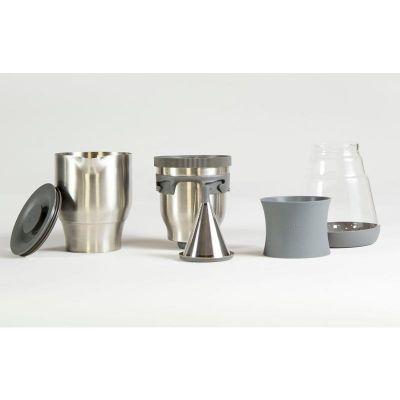 FellowProducts Duo Coffee Steeper Nitelikli Kahve Demleyici, Manuel, Gri