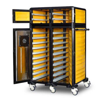Gastrolley - Gastrolley 100/25 İkili Hastane Sıcak Servis Arabası, Isıtmalı+Nötr, 101x79x158 cm (1)