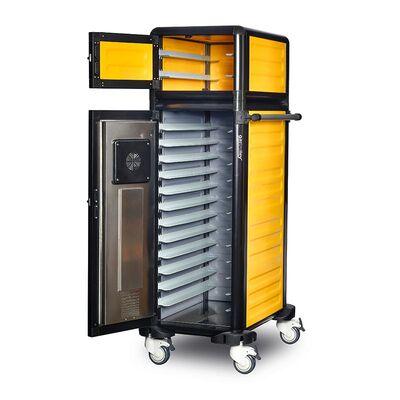 Gastrolley - Gastrolley 100/25 Tekli Hastane Sıcak Servis Arabası, Isıtmalı+Nötr, 57x79x158 cm (1)