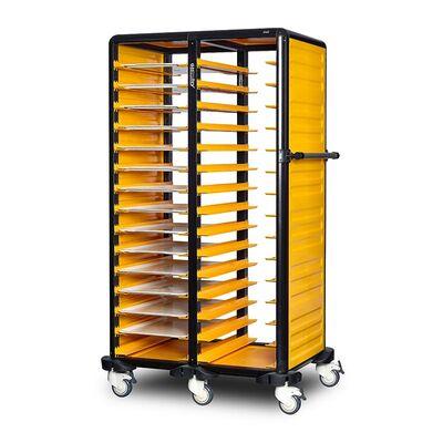 Gastrolley - Gastrolley 150 İkili Servis Tepsi Arabası, 2 Yanı Kapalı, 101x71x174 cm (1)