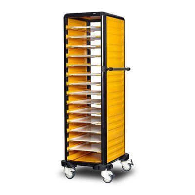 Gastrolley - Gastrolley 150 Tekli Servis Tepsi Arabası, 2 Yanı Kapalı, 57x71x174 cm (1)