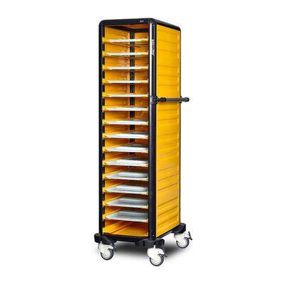 Gastrolley - Gastrolley 150 Tekli Servis Tepsi Arabası, 2 Yanı ve Arkası Kapalı, 57x71x174 cm (1)