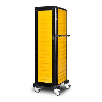 Gastrolley - Gastrolley 150 Tekli Servis Tepsi Arabası, 2 Yanı ve Arkası Kapalı, Kapılı, 57x75x174 cm (1)
