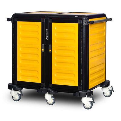 Gastrolley - Gastrolley 75 İkili Servis Tepsi Arabası, 2 Yanı ve Arkası Kapalı, Kapılı, 101x75x99 cm (1)
