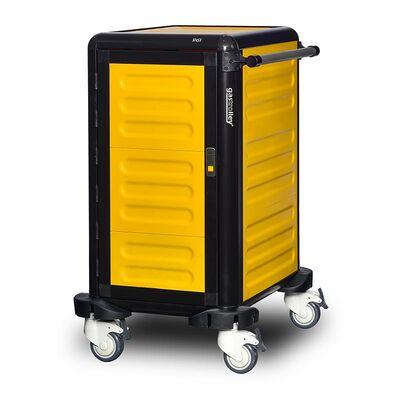 Gastrolley - Gastrolley 75 Tekli Servis Tepsi Arabası, 2 Yanı ve Arkası Kapalı, Kapılı, 57x75x99 cm (1)