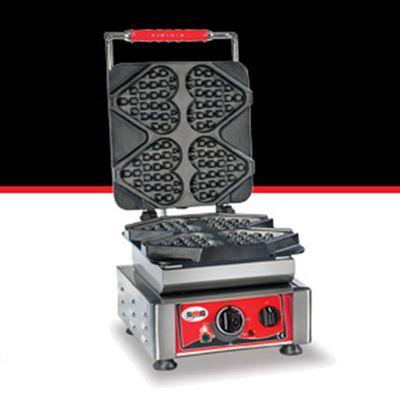 GMG WE 04 Ti Amo Kalp Model Waffle Makinesi, Değişebilir Plaka