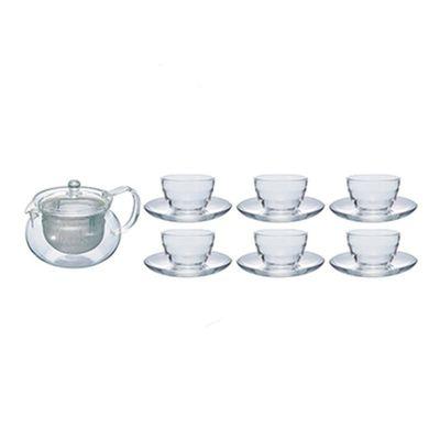 Hario - Hario Cha-Cha Kyusu Maru Çay Potu, 700 ml, 6 Adet Bardaklı Set (1)