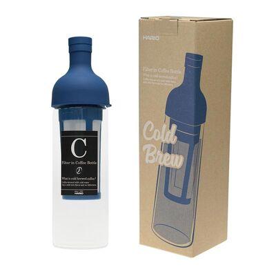 Hario - Hario Soğuk Demleme Filtreli Şişe, 650 ml, Mavi (1)