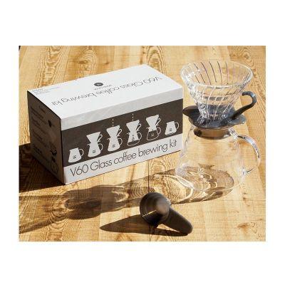 Hario - Hario V60 02 Kahve Demleme Kiti, Cam, Siyah (1)
