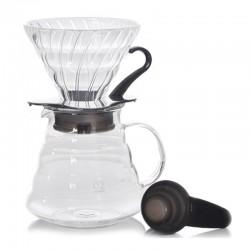 Hario V60 02 Kahve Demleme Kiti, Cam, Siyah - Thumbnail