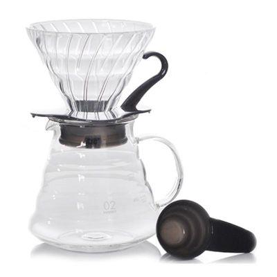 Hario V60 02 Kahve Demleme Kiti, Cam, Siyah