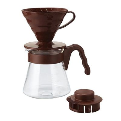 Hario V60 02 Kahve Demleme Seti, Kahverengi