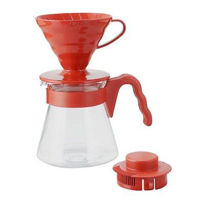 Hario V60 02 Kahve Demleme Seti, Kırmızı