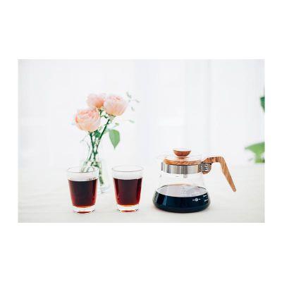 Hario - Hario V60 02 Kahve Servis Sürahisi, Ahşap Kapaklı, 600 ml (1)