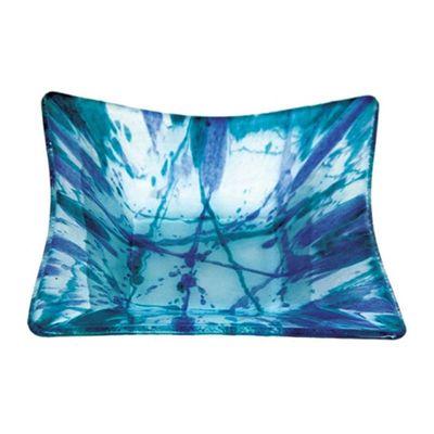 Hazan Art Glass Alora Vip Design Tabak, Cam, 19x19x5 cm