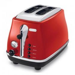 Delonghi CTO 2003.R Icona Ekmek Kızartma Makinesi, Kırmızı - Thumbnail