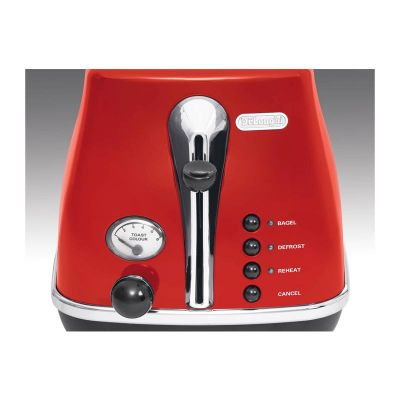 Delonghi - Delonghi CTO 2003.R Icona Ekmek Kızartma Makinesi, Kırmızı (1)