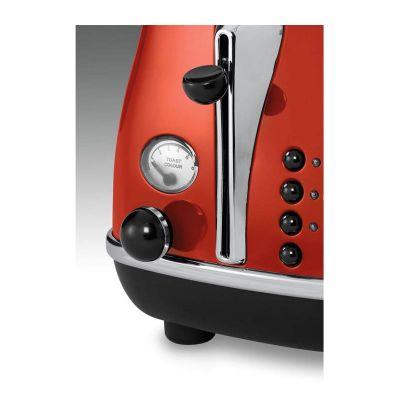 Delonghi CTO 2003.R Icona Ekmek Kızartma Makinesi, Kırmızı