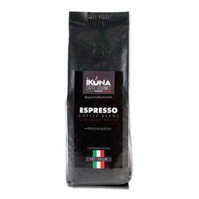 İkona Caffe Gourmet Espresso Premium Black Çekirdek Kahve, 500 gr