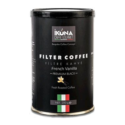 İkona Caffe Premium Black French Vanilla Filtre Kahve, 250 gr
