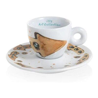 illy - illy Art Collection 2018 Max Petrone Espresso 2'li Fincan Takımı, 60 cc (1)