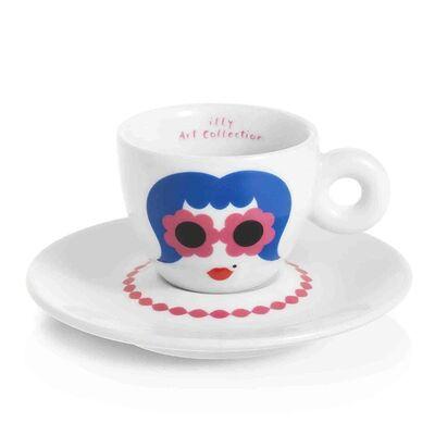 illy - illy Art Collection 2019 Olimpia Zagnoli Espresso 2'li Fincan Takımı, 60 cc (1)