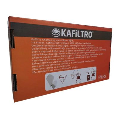 Kafiltro - Kafiltro Chemex Filtre Kağıdı, 1-3 Fincan, 100 Adet (1)