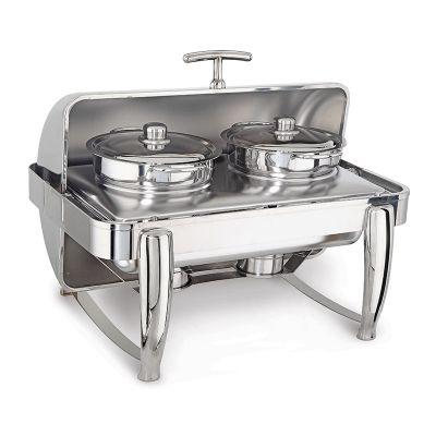 Kapp Delux Chafing Dish Roll Top Çift Çorbalık, 2x4.5 L