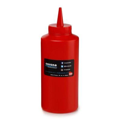 Bora Plastik Ketçaplık Mayonezlik, Şişe Kapaklı, 420 ml, Kırmızı