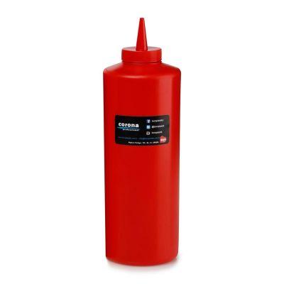 Bora Plastik Ketçaplık Mayonezlik, Şişe Kapaklı, 925 ml, Kırmızı