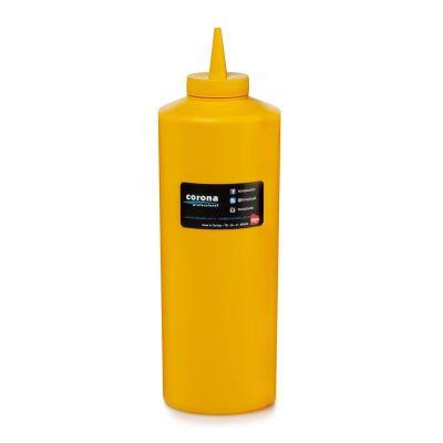 Bora Plastik Ketçaplık Mayonezlik, Şişe Kapaklı, 925 ml, Sarı