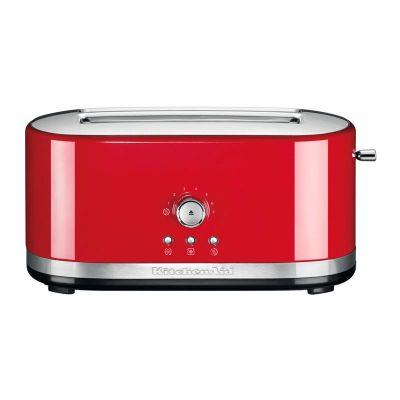 KitchenAid Ekmek Kızartma Makinesi, Manuel Kontrollü, Uzun Yuvalı, İmparatorluk Kırmızısı