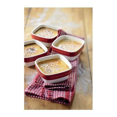 KitchenAid - KitchenAid Ramekin Set, Seramik, 4 Parça, İmparatorluk Kırmızısı (1)