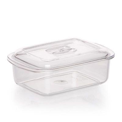 Bora Plastik Saklama Kabı, Kristal, No: 1, 0.50 L