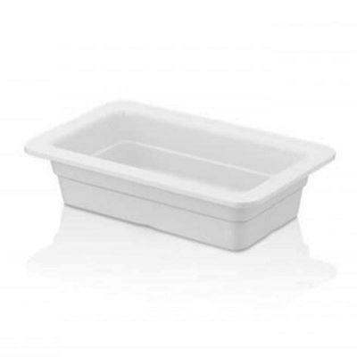 Külsan Thermoset Gastronom Küvet, GN 1/4, 26.5x16.2 cm, 1.1 L, Beyaz
