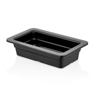 Külsan Thermoset Gastronom Küvet, GN 1/4, 26.5x16.2 cm, 1.1 L, Siyah