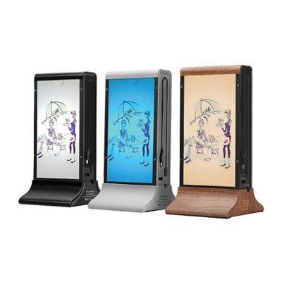 Cyclone - Cyclone Masaüstü Mobil Şarj Cihazı, Powerbank, LCD Ekranlı, Ahşap (1)