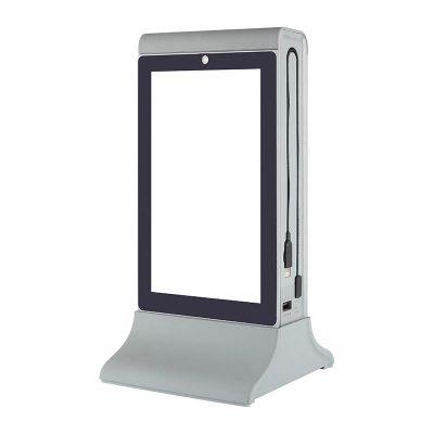 Cyclone - Cyclone Masaüstü Mobil Şarj Cihazı, Powerbank, LCD Ekranlı, Gri (1)